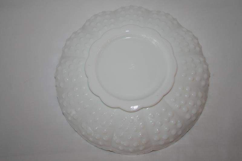 Fenton Hobnail Milk Glass AshTray, Candle Bowl or Chip & Dip with Tag  #1974 image 8