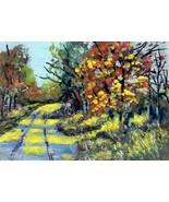 Original Acrylic Aceo Painting Okla  Landscape #2  ~Artist P. Conyers - $5.00