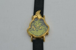 Vintage Dr. Suess ''GRENCH'' Watch Rare Face shaped, New Battery w/Dr.Su... - $18.66