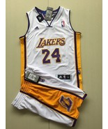 Yourh Los Angeles Lakers #24 Kobe Bryant basketball suit jersey White.jpg - $45.99