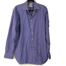 Thomas Pink Blue Plaid Gingham X-Long Sleeve Dress Shirt 100% Cotton Siz... - $27.07