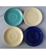 Fiestaware Fiesta Saucers Small Plates Tea Coffee Servers Set 4 Vintage ... - $38.87