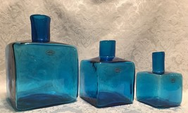 Blenko Block Vase - Turquoise- Set of 3 - $168.25