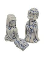 Vintage Arnel's Children Nativity Scene Christmas 3 pc Ceramic 1975 - $39.59