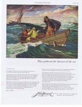 1951 Early American FISHERMAN Fishing Art GRAND BANKS John Hancock Print... - $9.99
