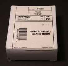 LOT OF 9 NEW EDWARDS SIGNALING 270-GLR REPLACEMENT GLASS RODS P027165