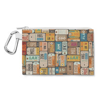 Luggage Tags Retro Canvas Zip Pouch - $15.99+