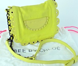 100% Authentic See By Chloe Yellow Leather Mini Shoulder purse  Accessor... - $133.65