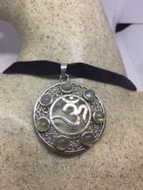 Vintage Argent Bronze Tibétain Grand Ohm Shanti - $118.80