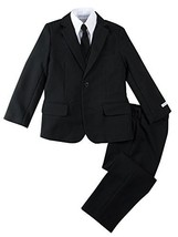 Spring Notion Boys' Modern Fit Black Dress Suit Set 5 - $60.23