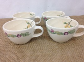 Phaltzgraff Jamberry Designed by Pat Farrell Vtg USA Made Set of 4 Coffee Cups - $9.85