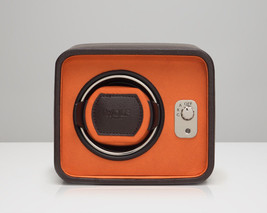 WOLF Windsor Automatic Module 2.5 Single Watch Winder Box Brown Orange - $199.00