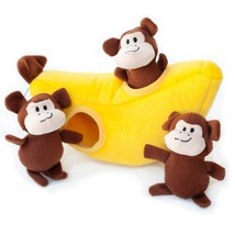 Chew Toys For Dogs, Monkey And Banana Tough Squeaky Cute Stuffed Dog Che... - $49.99
