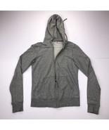 Uniqlo Women's XS Gray Hoodie Long Sleeve Zipped Sweater  - $18.79