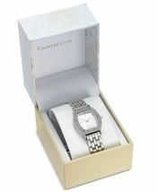 Charter Club Women's Silver-Tone Crystal Tonneau Case Bracelet Watch 28mm NEW image 2