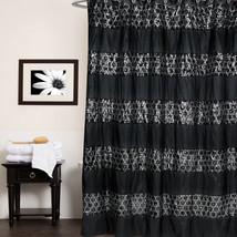 "Popular Bath Sinatra Black Collection - 70"" x 72"" Bathroom Shower Curtain - $27.49"