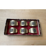 """Set of 6 Vintage """"Be My Guest"""" Napkin Rings - $25.00"""