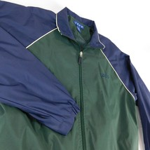 IZOD Blue Green Varsity Lightweight Jacket Coat Windbreaker Sz S - $19.99