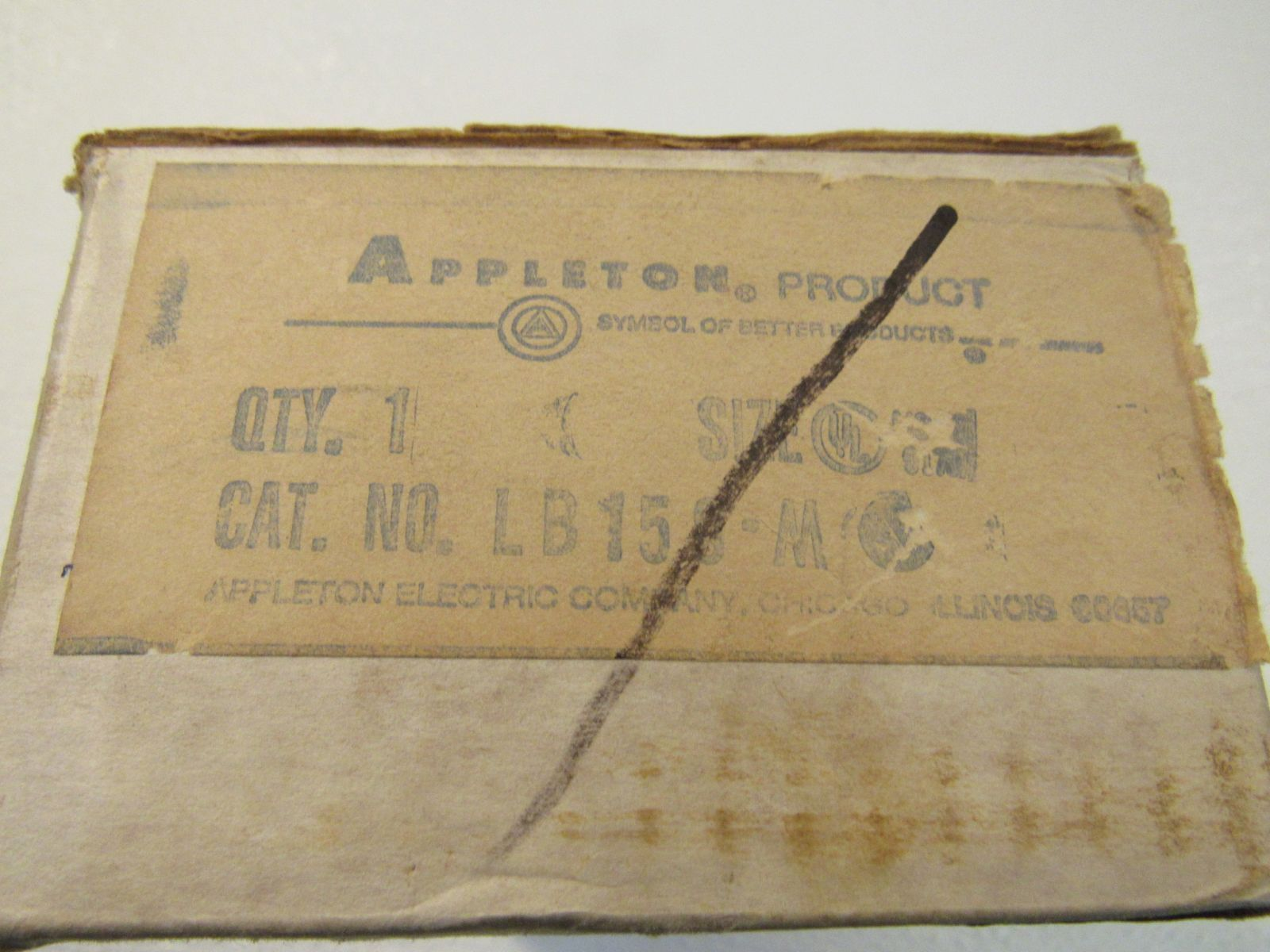 Appleton Unilet Outlet Body 1 1/2in LB Form 35 LB15S-M Malleable Iron