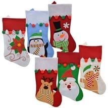 "Christmas House Pom-Pom Trimmed Christmas Character 18"" Stockings w - $5.99"