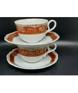 Andrea by Sedek for Winterthur pair of teacups and saucers excellent con... - $35.00