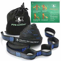 pys XL Hammock Tree Straps, 40 Loops&20ft Long Combined, 2000 LBS Heavy ... - $14.79