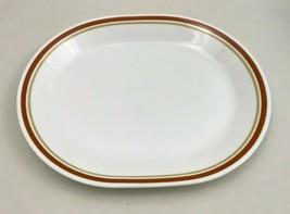 "RARE Corelle Corning Cinnamon CHESTNUT 12"" Oval Serving Platter Plate Ru... - $9.74"