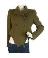 Carven Khaki Green Military Style Long sleeve Asymmetrical Fashion Jacke... - $247.68