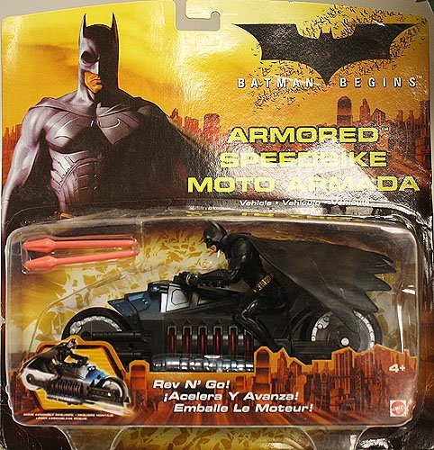 Mattel Batman Begins Armored Speedbike Rev N' Go! H2852