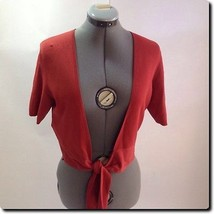 Ann Taylor LOFT Coral Knit Cardigan medium - $18.78