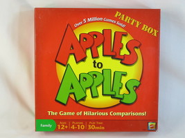 Apples to Apples 2007 Party Box Board Game Mattel 100% Complete Near Min... - $16.55