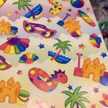 Vintage Lisa Frank Full Sticker Sheet S126 Mint 90s Beachy Fun image 2