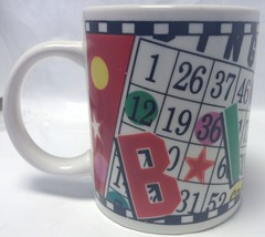 BINGO Coffee Mug with Bingo Cards ~ Bingo lover ~ Tasse a cafe ~ Carte d... - $20.11
