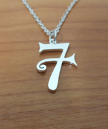 Pendant - Lucky 7 - Remembrance Symbol - 925 Silver - Handmade - $55.00