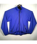Helly Hansen Medium Silmond Teljin Blue Jacket Windbreaker Cycling Running - $37.39