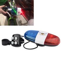 Electronic Bicycle Siren Police Car Horn Loud Warning Led Light Kids Acc... - €9,15 EUR