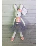 Manhattan Kids Grey Floral Dress Tutu Skirt Bunny Rabbit Stuffed Animal ... - $39.59