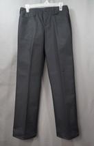 NWT IZOD Flat Front Black Pants Size 8 Huskey Boys With Adjustable Waist - $14.95