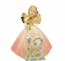 Josef Originals figurine birthday girl vtg porcelain angel 12 Twelve mir... - $43.32