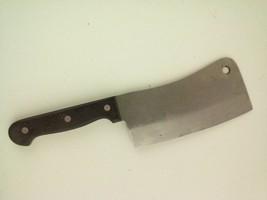 Vintage Cleaver Knife 6.5-Inch Blade Black Handle Japan - $25.91