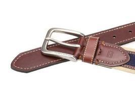 Tommy Hilfiger Men's Premium 35MM Canvas Leather Belt 11TL02X044 image 3