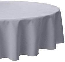 LinenTablecloth 70-Inch Round Polyester Tablecloth SILVER - $14.08