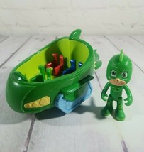 """2012 Just Play PJ Masks Green 3"""" Gecko Figure With 7"""" Vehicle - $13.93"""