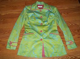 Andrea Becker Long Floral Dress Jacket Blazer Size 4 - $25.99