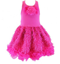 Posh Sparkly Fuchsia Eyelash Chiffon Pink Tutu Dress, 6M-5/6 USA Cupcake... - $50.96+