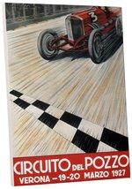 "Pingo World 0616QPV6W0A ""Circuit del Pizza Car Racing Vintage"" Advertisi... - $43.51"