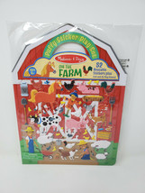 Melissa & Doug Reusable Puffy Sticker Play Set FARM 000772094085 - $6.99