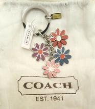 NWT COACH f69937 Flower Multicolor Blue Pink Coral Purple Silver Mix Key... - $58.00