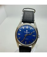 Henry Sandoz Stainless Steel Sapphire Dome Blue Dial Mechanical Watch - $188.00