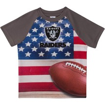 NFL Oakland Raiders T-Shirt Flag Design Short Sleeve Gerber Youth Select... - €13,08 EUR